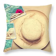 Summertime Postcards Throw Pillow by Amanda And Christopher Elwell