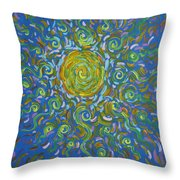 Sun Burst Of Squiggles Throw Pillow by Stefan Duncan