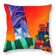 Sun City Throw Pillow by Dawnstarstudios