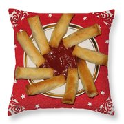 Sun Of Spring Rolls Throw Pillow by Ausra Paulauskaite