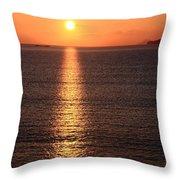 Sun Path Throw Pillow by Aidan Moran