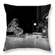 Sun Ra Dancer And Marshall Allen Throw Pillow by Lee  Santa