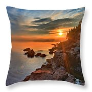 Sun Shots Throw Pillow by Adam Jewell