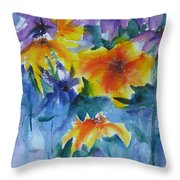 Sun Splashes Throw Pillow by Anne Duke