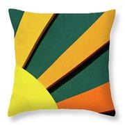 Sunbeams Throw Pillow by Christi Kraft
