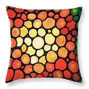 Sunburst Throw Pillow by Sharon Cummings