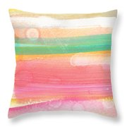 Sunday In The Park- Contemporary Abstract Painting Throw Pillow by Linda Woods