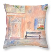 Sunday Morning In Charleston Throw Pillow by Ben Kiger