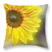 Sunflower Throw Pillow by Penny Pesaturo