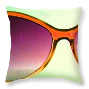 Sunglass - 5D20678 - v3 Throw Pillow by Wingsdomain Art and Photography