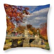 Sunkissed Lagoon Bridge Throw Pillow by Joann Vitali