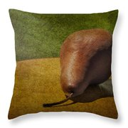 Sunlit Pear Throw Pillow by Susan Candelario