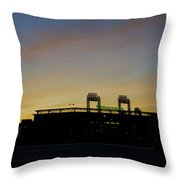 Sunrise At Citizens Bank Park Throw Pillow by Bill Cannon