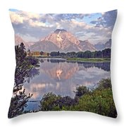 Sunrise At Oxbow Bend 4 Throw Pillow by Marty Koch
