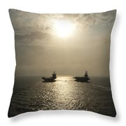 Sunrise At Sea Throw Pillow by Mountain Dreams