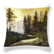 Sunrise In The Forest Throw Pillow by Lee Piper