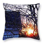 Sunrise Next Door Throw Pillow by Sarah Loft