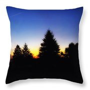 Sunrise Over East Lawn Panorama Throw Pillow by Thomas Woolworth