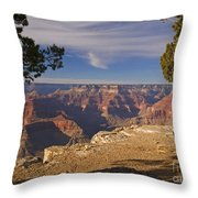 Sunset at the Grand Canyon's Hopi Point Throw Pillow by Alex Cassels