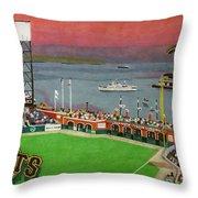 Sunset at the Park Throw Pillow by Cory Still