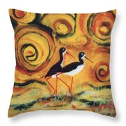 Sunset Ballet Throw Pillow by Anna Skaradzinska