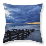 Sunset Boardwalk Throw Pillow by Michael Thomas