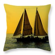Sunset Celebration Throw Pillow by Karen Wiles