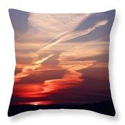Sunset Dance Throw Pillow by Aidan Moran