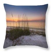 Sunset Dunes Throw Pillow by Debra and Dave Vanderlaan