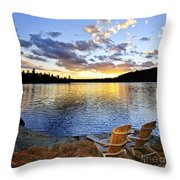 Sunset In Algonquin Park Throw Pillow by Elena Elisseeva