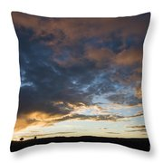 Sunset In Utah Throw Pillow by Delphimages Photo Creations