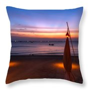 Sunset Lanta Island  Throw Pillow by Adrian Evans