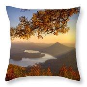 Sunset Light Throw Pillow by Debra and Dave Vanderlaan