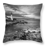 Sunset Lighthouse Throw Pillow by Jon Glaser