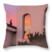 Sunset On Windows Throw Pillow by Augusta Stylianou