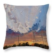 Sunset Over Bay Point Throw Pillow by Laura Lee Zanghetti