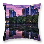 Sunset Over Midtown Throw Pillow by Doug Sturgess