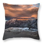 Sunset Over The Dunes Throw Pillow by Adam Jewell