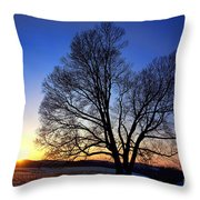 Sunset Over Valley Forge Throw Pillow by Olivier Le Queinec