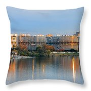 Sunset over Watergate Throw Pillow by Olivier Le Queinec