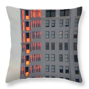Sunset Reflections In St. Pete Throw Pillow by Dorothy Menera