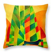 Sunset Sails And Shadows Throw Pillow by Tracey Harrington-Simpson