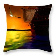 Sunset Sails Throw Pillow by Lourry Legarde