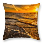 Sunset Seascape Throw Pillow by Adrian Evans