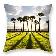 Sunset Sentinels Throw Pillow by Debra and Dave Vanderlaan