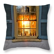 Sunset Through A Window Throw Pillow by Olivier Le Queinec