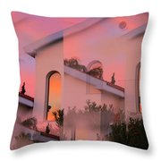 Sunsets on Houses Throw Pillow by Augusta Stylianou