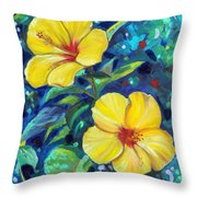 Sunshine Sisters Throw Pillow by Eve  Wheeler