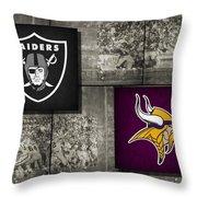 Super Bowl 11 Throw Pillow by Joe Hamilton