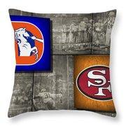 Super Bowl 24 Throw Pillow by Joe Hamilton
